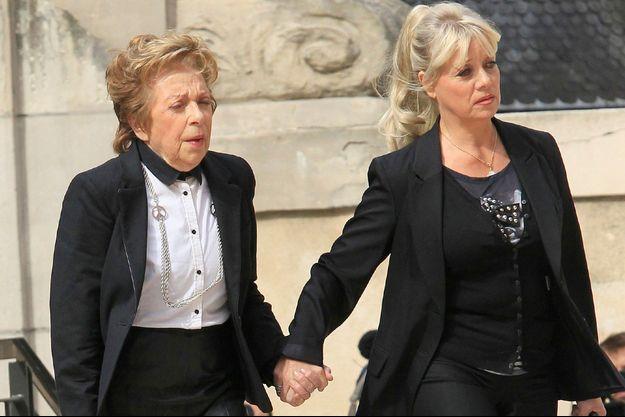 Marthe Mercadier et sa fille Véronique à paris, le 20 novembre 2012