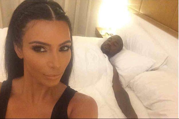Une photo de Kim Kardashian et son mari Kanye West, diffusée par la star elle-même sur le réseau Instagram