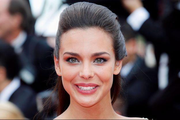 Marine Lorphelin arrive au 67ème Festival de Cannes en 2014.