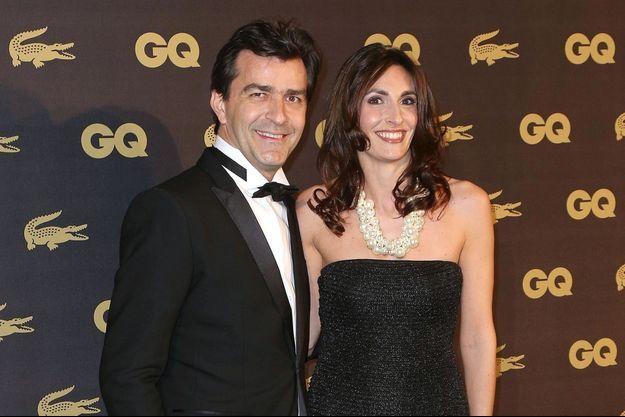 Yannick Alléno et sa femme Laurence Bonnel à une soirée GQ en 2013.