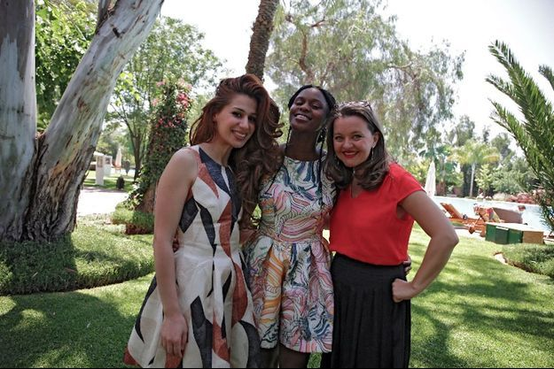 Bouchra Beno, Fadily Camara et Christine Berrou à Marrakech, le 4 juin 2016.
