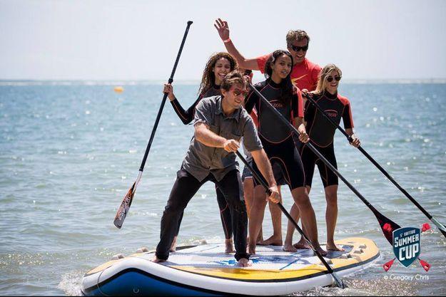 Alexandra Rosenfeld, Chloé Mortaud et Flora Coquerel lors de la Summer Cup à La Baule.