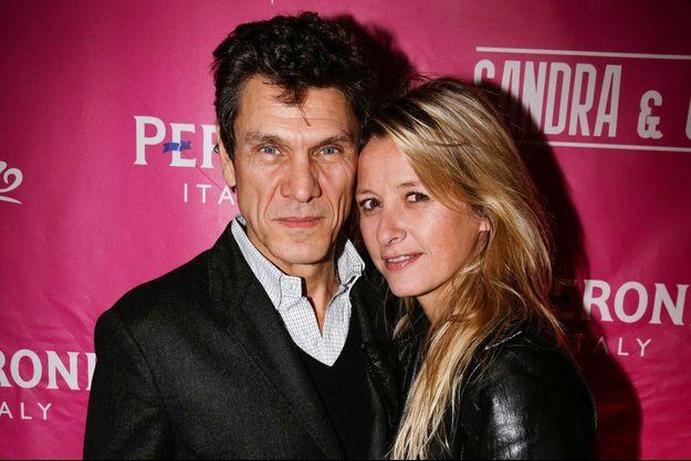 Marc et Sarah Lavoine à Paris le 14 février 2014.
