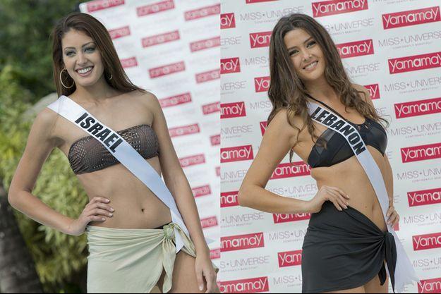 Miss Israël et Miss Liban se battent bec et ongles au concours Miss Univers 2015