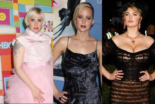 Lena Dunham, Jennifer Lawrence et Kate Upton en 2004.