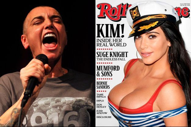 """En Une de """"Rolling Stone"""", Kim Kardashian s'attire les foudres de Sinéad O'Connor."""