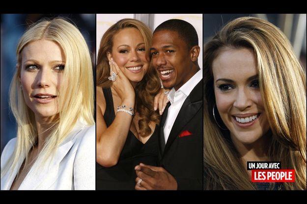 Gwyneth Paltrow, Mariah Carey et Nick Cannon, Alyssa Milano