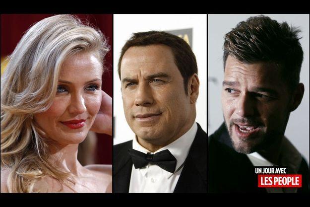 Cameron Diaz, John Travolta, Ricky Martin
