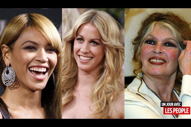Beyonce, Alanis Morissette et Brigitte Bardot.