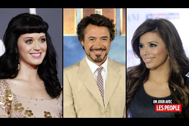 Katy Perry, Robert Downey Jr et Eva Longoria
