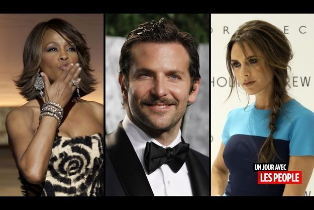 Whitney Houston, Bradley Cooper et Victoria Beckham