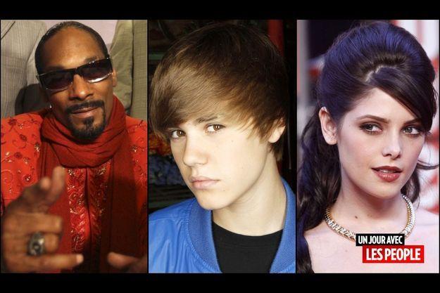 Snoop Dogg, Justin Bieber, Ashley Greene