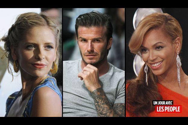 Sarah Michelle Gellar, David Beckham et Beyoncé