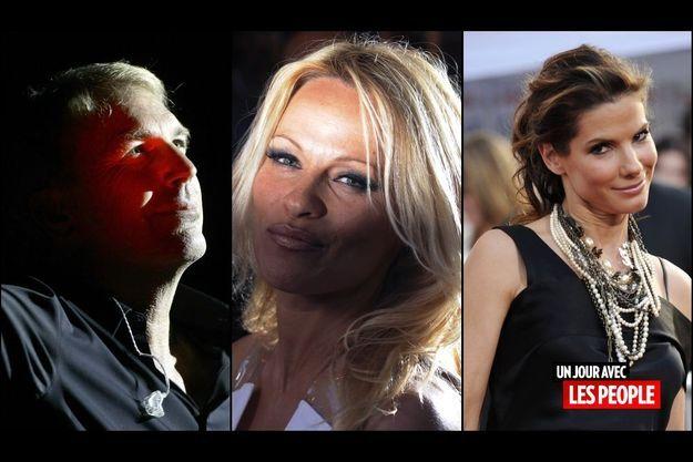 Kevin Costner, Pamela Anderson et Sandra Bullock