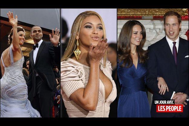 Eva Longoria et Tony Parker, Beyonce, Kate et William