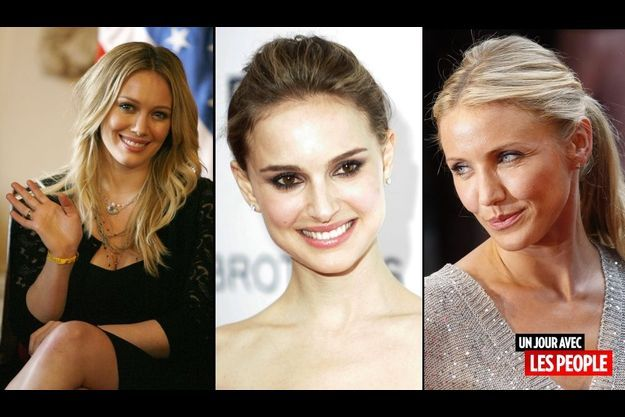 Hilary Duff, Natalie Portman et Cameron Diaz.
