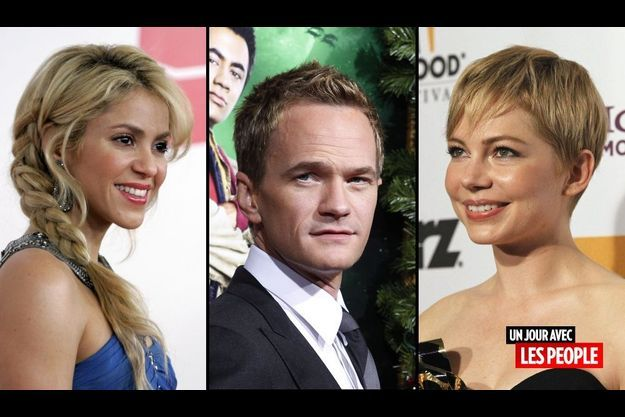 Shakira, Neil Patrick Harris et Michelle Williams