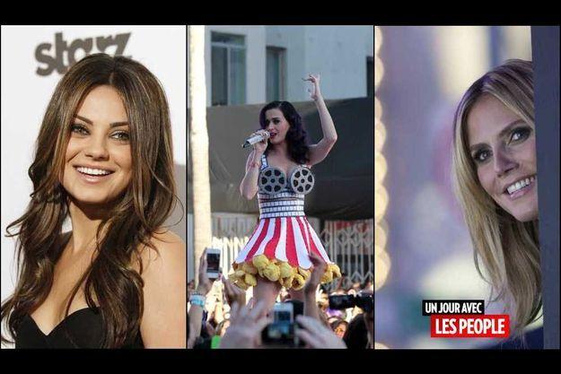 Mila Kunis, Katy Perry et Heidi Klum.
