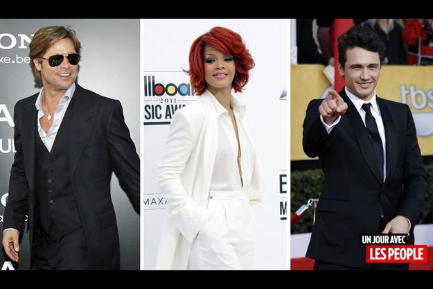 Brad Pitt, Rihanna et James Franco.