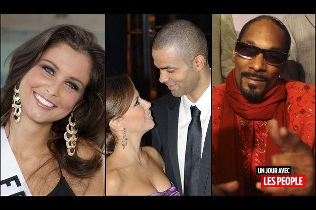 Malika Ménard, Eva Longoria et Tony Parker, Snoop Dogg