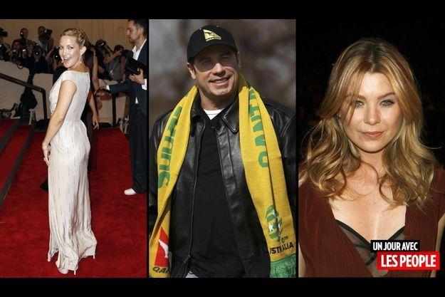 Kate Hudson, John Travolta et Ellen Pompeo.