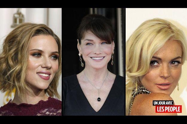 Scarlett Johansson, Carla Bruni-Sarkozy et Lindsay Lohan