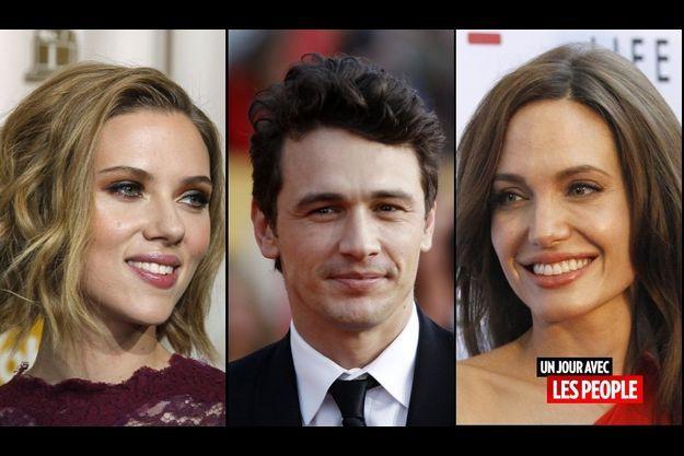Scarlett Johansson, James Franco et Angelina Jolie