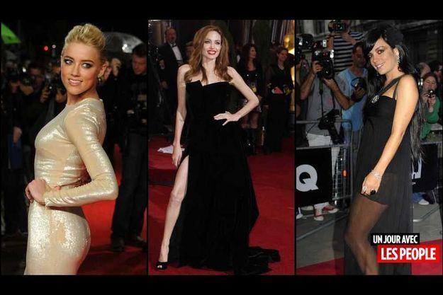 Amber Heard, Angelina Jolie et Lily Allen.