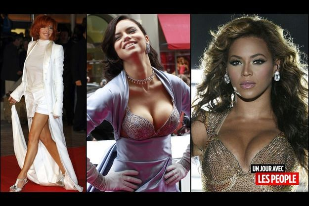 Mylène Farmer, Adriana Lima, Beyoncé