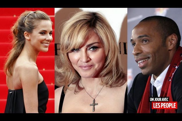 Mélissa Theuriau, Madonna et Thierry Henry.