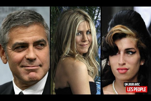 George Clooney, Jennifer Aniston et Amy Winehouse