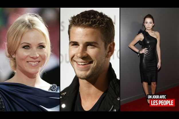 Christina Aplegate, Liam Hemsworth et Miley Cyrus.