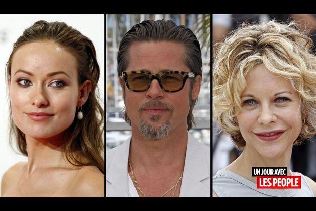 Olivia Wilde, Brad Pitt et Meg Ryan