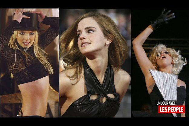 Britney Spears, Emma Watson et Lady Gaga