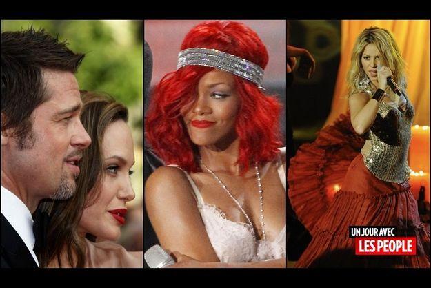 Brad Pitt, Rihanna, Shakira