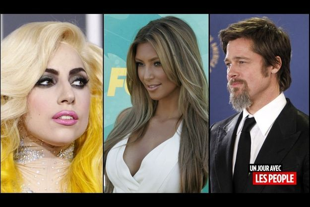 Lady Gaga, Kim Kardashian, Brad Pitt