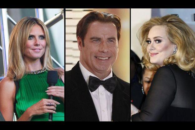 Heidi Klum, John Travolta et Adele