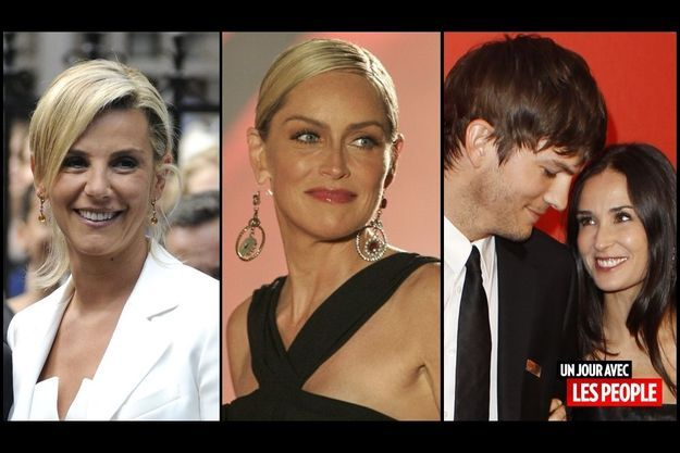 Laurence Ferrari, Sharon Stone, Ashton Kutcher et Demi Moore