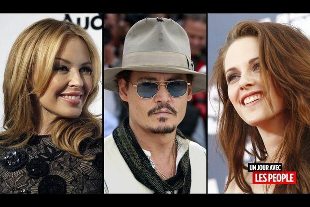 Kylie Minogue, Johnny Depp et Kristen Stewart