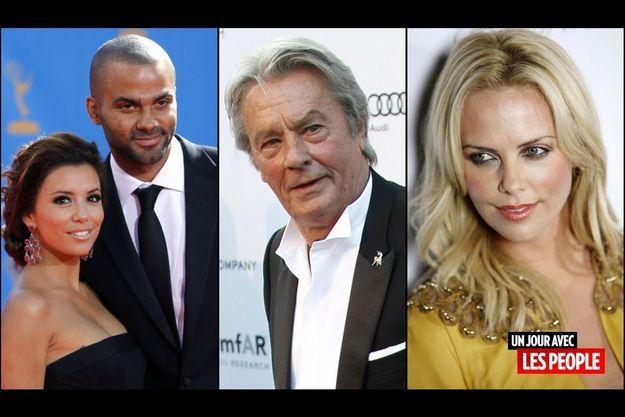 Tony Parker et Eva Longoria, Charlize Theron, Alain Delon