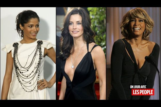 Freida Pinto, Courteney Cox et Whitney Houston