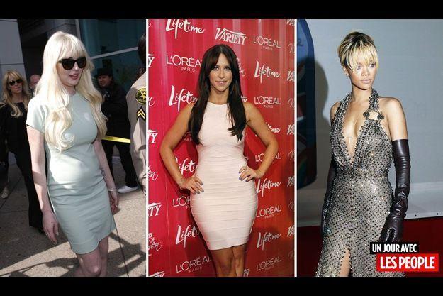 Lindsay Lohan, Jennifer Love-Hewitt et Rihanna.
