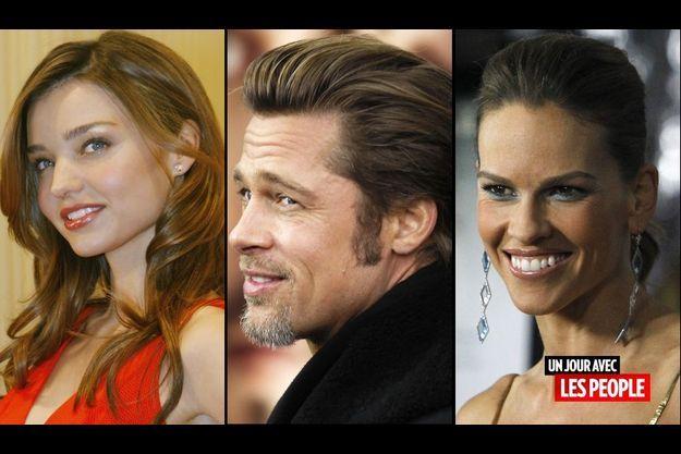 Miranda Kerr, Brad Pitt et Hilary Swank