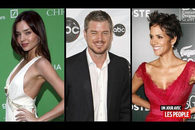 Miranda Kerr, Eric Dane et Halle Berry.