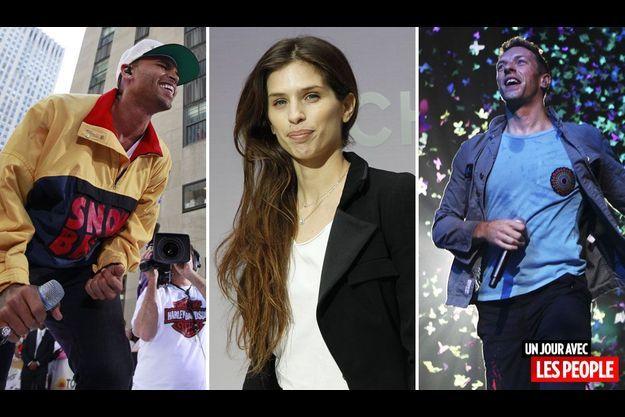 Chris Brown, Maïwenn et Chris Martin.