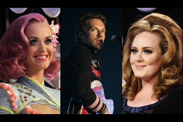 Katy Perry, Chris Martin et Adele