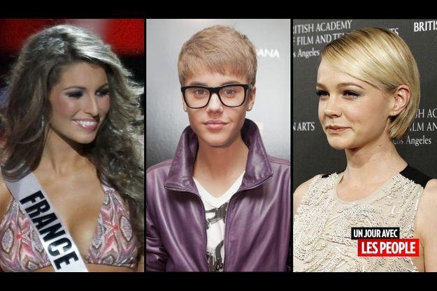 Laury Thilleman, Justin Bieber et Carey Mulligan
