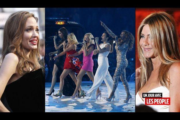 Angelina Jolie, les Spice Girls et Jennifer Aniston
