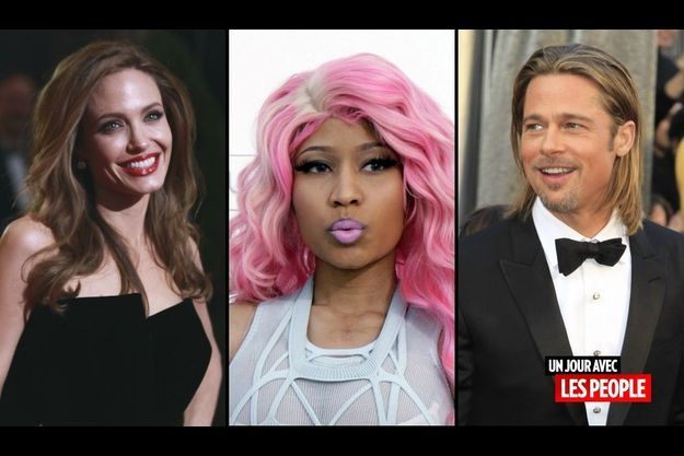 Angelina Jolie, Nicki Minaj et Brad Pitt