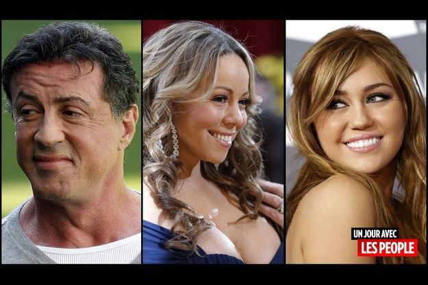 Sylvester Stallone, Mariah Carey et Miley Cyrus